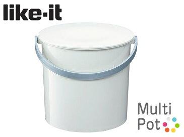 \2/15限定!エントリーで最大P19倍♪/ライクイット Like-it マルチポット バケツ M Multi pot like-it ( MP-02 ) ホワイト