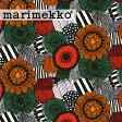 《1.5mまでメール便送料無料》 マリメッコ ピエニ シールトラプータルハ 生地 グリーン×オレンジ (30cm以上〜10cm単位で切り売り) 《ファブリック》 【 MARIMEKKO Pieni SIIRTOLAPUUTARHA 北欧 布 ブランド フィンランド 】