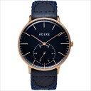 ADEXE (アデクス) 1868B-06 ユニセックス 腕時計 GRANDE (グランデ) 41mm ローズゴールド ダークブルー ギフト インスタ映えマスト! ADEXE (アデクス)