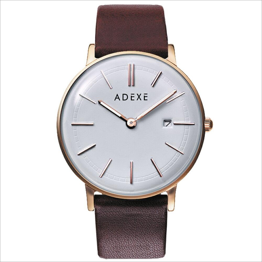 ADEXE (アデクス)2046A-T01 ユニセックス 腕時計 GRANDE (グランデ) 41mm ローズゴールド ホワイト ライトブラウン ギフト インスタ映えマスト! ADEXE (アデクス)