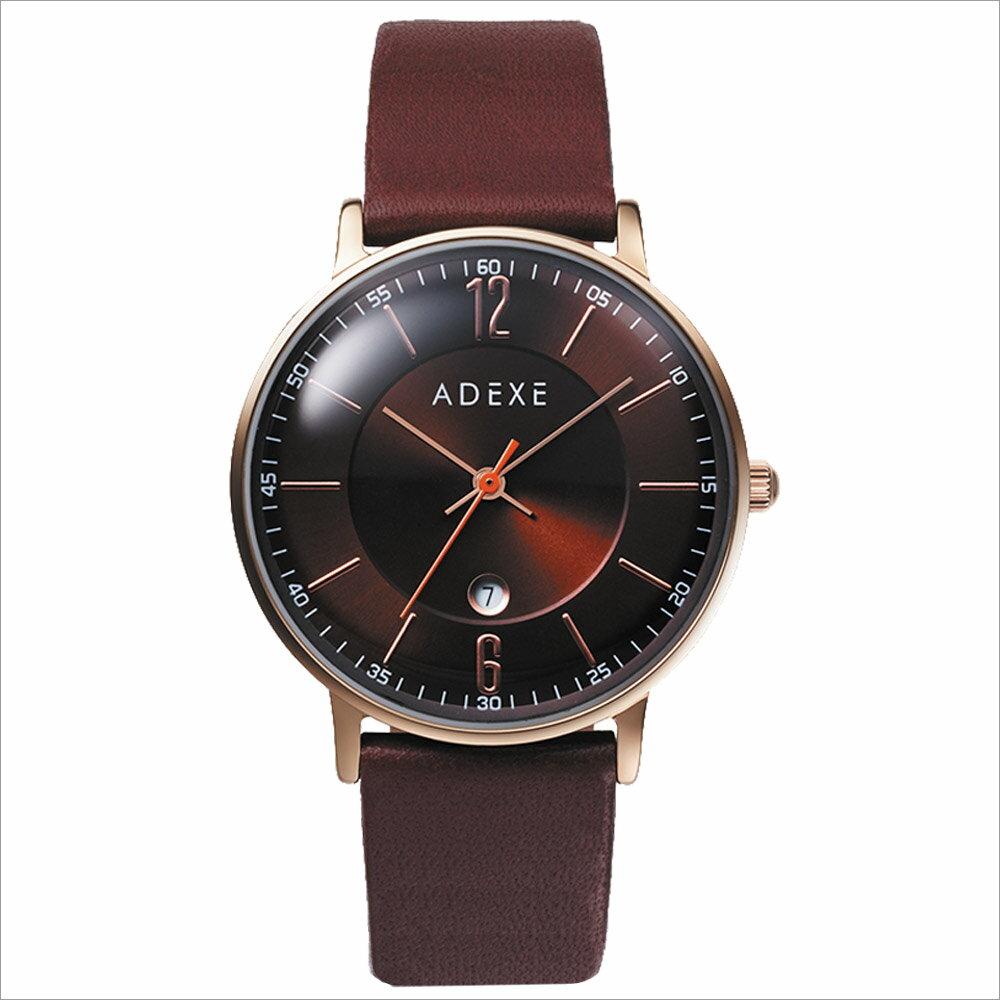 ADEXE (アデクス) 2043B-01 ユニセックス 腕時計 PETITE (プチ) 33mm ローズゴールド ダークブラウン ギフト インスタ映えマスト! ADEXE (アデクス)