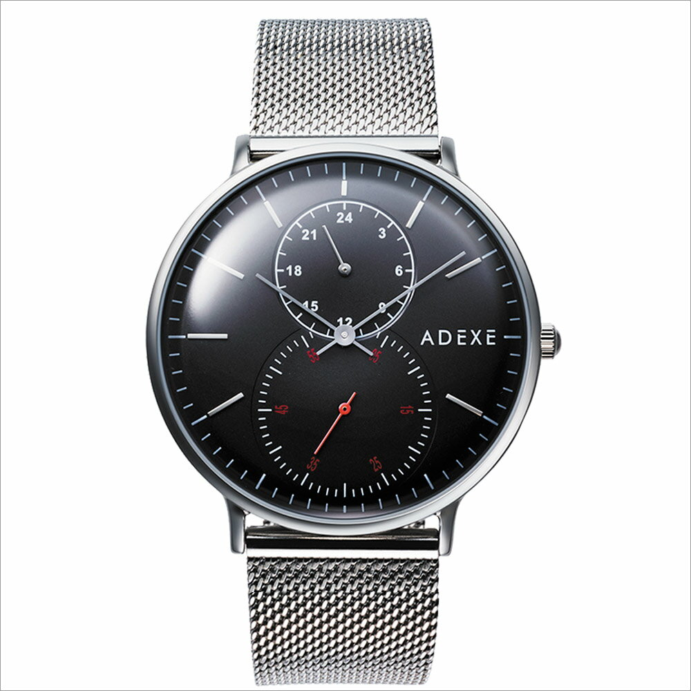 ADEXE (アデクス)2045B-06 ユニセックス 腕時計 GRANDE (グランデ) 41mm シルバー ブラック ギフト インスタ映えマスト! ADEXE (アデクス)