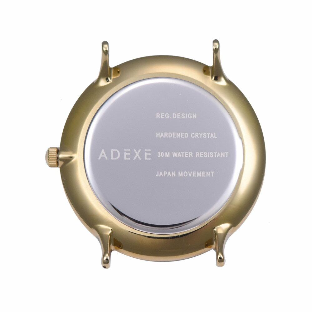 ADEXE (アデクス) 2043C-06 ユニセックス 腕時計 PETITE (プチ) 33mm ゴールド モスグリーン ギフト インスタ映えマスト! ADEXE (アデクス)