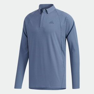 【公式】アディダス adidas ゴルフ パフォーマンス 長袖ポロシャツ 【ゴルフ】 / Performance Long Sleeve Polo メンズ ウェア トップス ポロシャツ 青 ブルー EJ7292 p0112