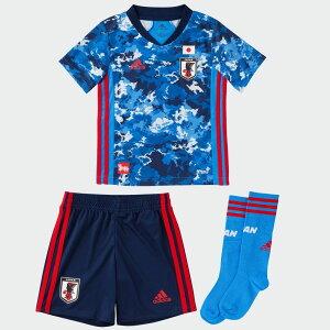 【公式】アディダス adidas 返品可 サッカー サッカー日本代表 2020 ホーム ユニフォーム ミニキット / Japan Home Mini Kit キッズ ウェア・服 セットアップ ユニフォーム 青 ブルー ED7354 notp 上下