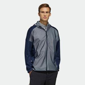 【公式】アディダス adidas ファブリックミックス 長袖 フーディーウインド 【ゴルフ】 / Sweater メンズ ゴルフ ウェア トップス パーカー スウェット FQ3544