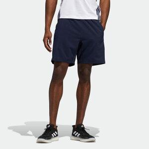 【公式】アディダス adidas ジム・トレーニング AEROREADY 3ストライプス 8インチ ショーツ / AEROREADY 3-Stripes 8-Inch Shorts メンズ ウェア ボトムス ハーフパンツ 青 ブルー FL4390 p1030