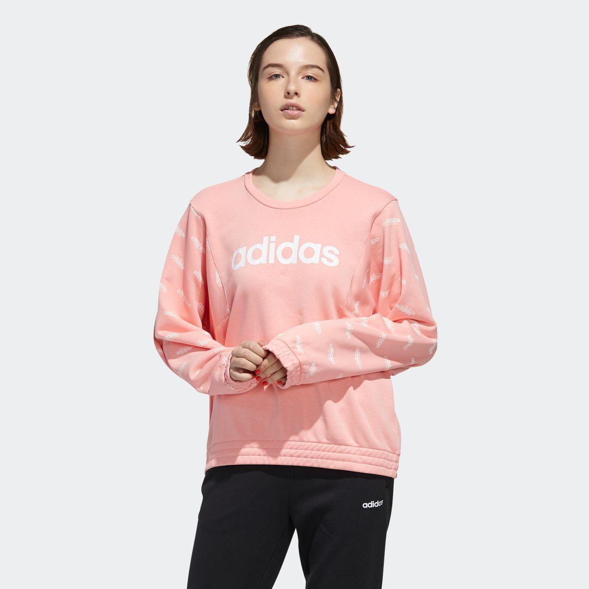 【公式】アディダス adidas フェイバリット スウェットシャツ / Favorites Sweatshirt レディース ウェア トップス スウェット ピンク FM6184 p1016