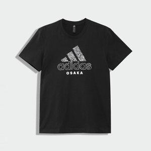【公式】アディダス adidas 大阪 スクロール Tシャツ / Osaka Scrawl Tee アスレティクス メンズ ウェア トップス Tシャツ 黒 ブラック GK4667 半袖