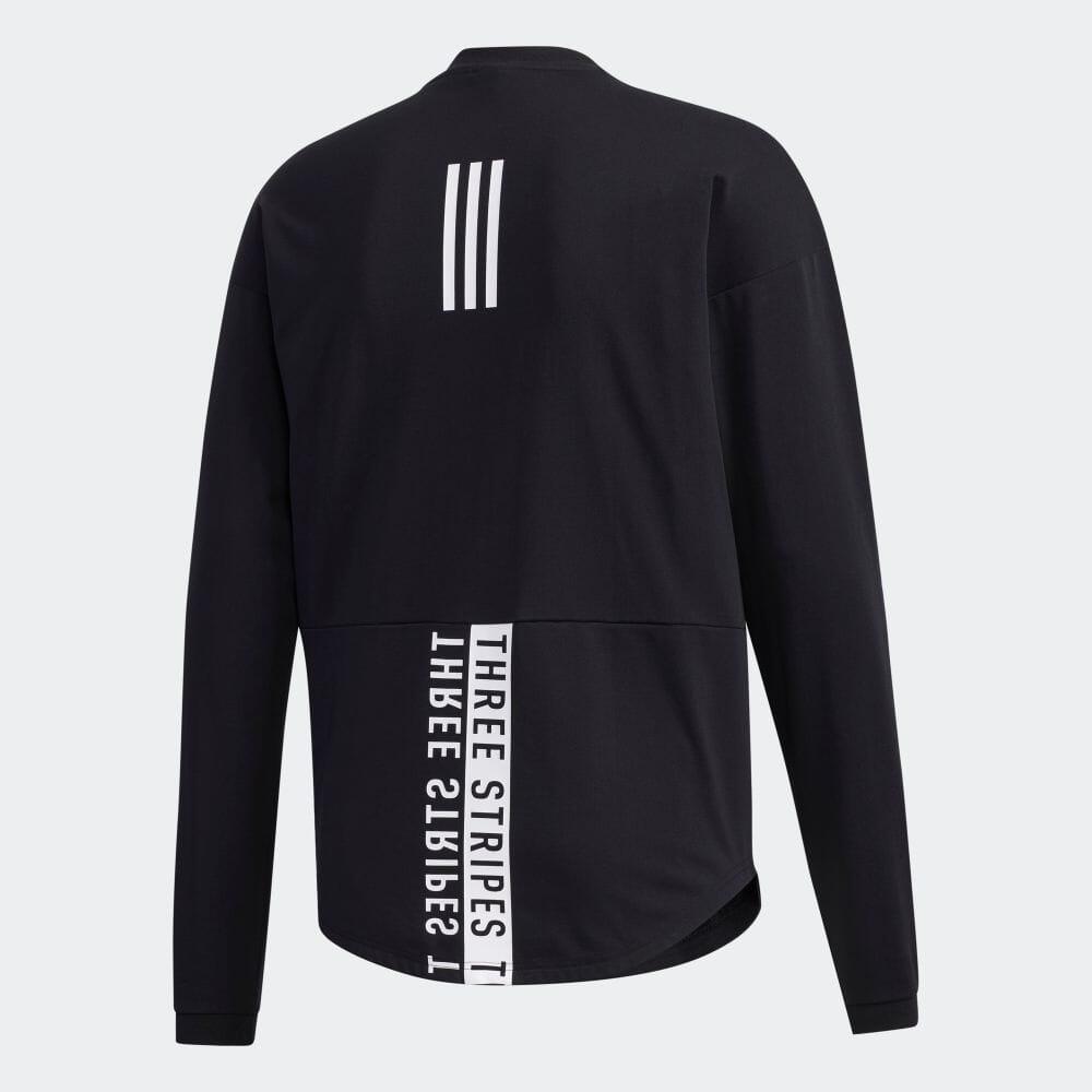 【公式】アディダス adidas マストハブ ワーディング 長袖Tシャツ / Must Haves Wording Tee アスレティクス メンズ ウェア トップス Tシャツ 黒 ブラック GE0355 ロンt p1016