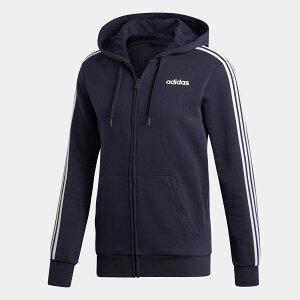【公式】アディダス adidas エッセンシャルズ 3ストライプス フリースパーカー / Essentials 3-Stripes Fleece Hoodie メンズ ウェア トップス パーカー ジャージ 青 ブルー DU0475 トレーナー p1030