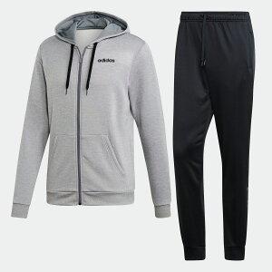 【公式】アディダス adidas リニア フレンチテリー パーカー トラックスーツ(ジャージセットアップ) / Linear French Terry Hoodie Track Suit メンズ ウェア セットアップ ジャージ グレー EI5558 上下