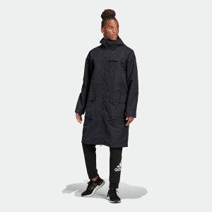 【公式】アディダス adidas シェル ロングジャケット / Shell Long Jacket アスレティクス メンズ ウェア アウター ジャケット 黒 ブラック FS4304