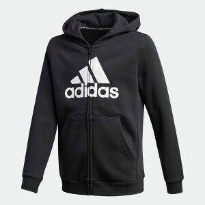 【公式】アディダス adidas マストハブ フリース フルジップ パーカー / Must Haves Fleece Full-Zip Hoodie キッズ ウェア トップス パーカー(フーディー) ジャージ 黒 ブラック GE0644 トレーナー
