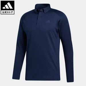 【公式】アディダス adidas 返品可 ゴルフ ブラッシュドストライプ 長袖ボタンダウンシャツ / Brushed Pullover メンズ ウェア・服 トップス ポロシャツ 青 ブルー FS6845 notp
