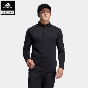 【公式】アディダス adidas 返品可 ゴルフ ブラッシュドワッフル 長袖ボタンダウンシャツ / Warm Fleece Pullover メンズ ウェア・服 トップス ポロシャツ 黒 ブラック FS6850 notp