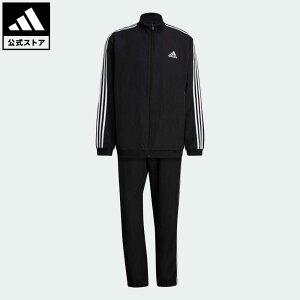 【公式】アディダス adidas 返品可 AEROREADY エッセンシャルズ レギュラーフィット 3ストライプス トラックスーツ / AEROREADY Essentials Regular-Fit 3-Stripes Track Suit メンズ ウェア・服 セットアップ ジャージ 黒 ブラック GK9950 walking_jogging 上下