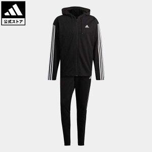 【公式】アディダス adidas 返品可 アディダス スポーツウェア リブインサート トラックスーツ / adidas Sportswear Ribbed Insert Track Suit アスレティクス メンズ ウェア セットアップ ジャージ 黒 ブラック GM3827 上下