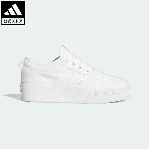 【公式】アディダス adidas 返品可 ニッツァ プラットフォーム / Nizza Platform オリジナルス レディース シューズ スニーカー 白 ホワイト FV5322 ローカット