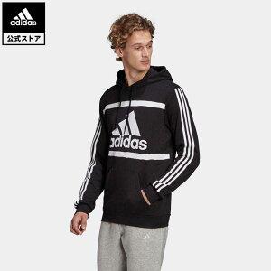 【公式】アディダス adidas 返品可 エッセンシャルズ ロゴ カラーブロック パーカー / Essentials Logo Colorblock Hoodie メンズ ウェア・服 トップス パーカー(フーディー) スウェット(トレーナー) 黒 ブラック GK9011 トレーナー