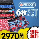 25%OFF 【送料無料】 アウトドア OUTDOOR メンズ ボクサーパンツ 6枚入り 福袋 [福袋・セット] ADIEU
