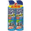アース製薬エアコン洗浄スプレー 防カビプラス 無香性420mLX2本パ...