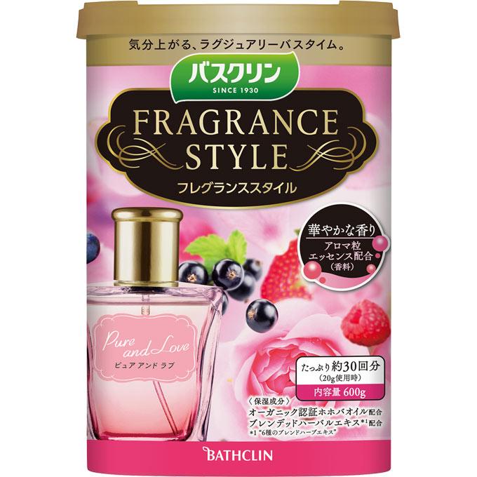 バスクリン フレグランススタイル ピュアアンドラブ / 600g / フルーティーローズの香り