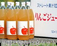 【ギフト】こだわりの無添加完熟100%ストレートりんごジュースご指名12本セット11種類の中からお選び下さい!贈り物にぜひどうぞ!