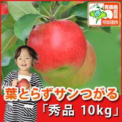 葉とらずサンつがる 秀品 約10kg 県認証有り ★果汁たっぷりで甘い香りの葉とらずサンつが...