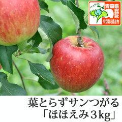 葉とらずサンつがる ほほえみ(訳あり)約3kg ★果汁たっぷりで甘い香りの葉とらずサンつがる...
