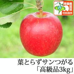 葉とらずサンつがる 高級品 約3kg 県認証有り ★果汁たっぷりで甘い香りの葉とらずサンつが...