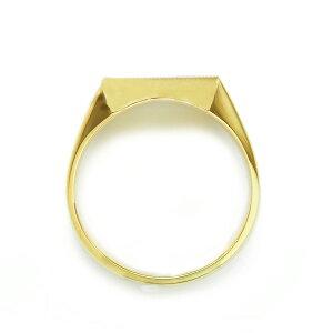 メンズリング印台(正角)-K1818金イエローゴールド指輪メンズmens男性リングringmensring