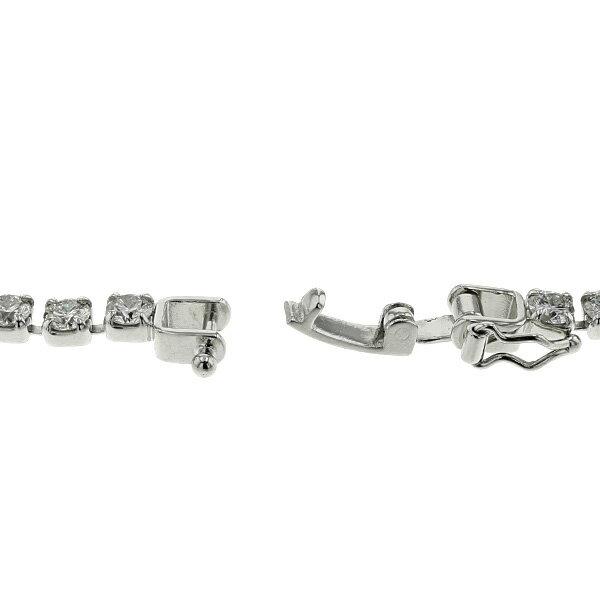 ダイヤモンド テニス ブレスレット 5ct(Total)/45石 VS~SIクラス-D~Hクラス-ラウンドブリリアントカット Pt ライン ブレスレット ダイヤモンドブレスレット プラチナ 5カラット 5.0ct Pt ダイヤ ブレス ダイヤブレス ダイヤモンド