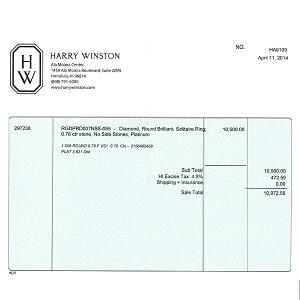 ハリーウィンストンラウンド・ソリティア・リングHW0004