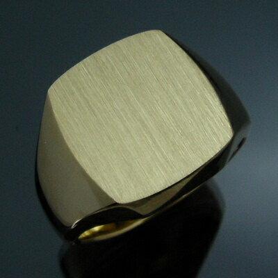 メンズリング 三味印台(大) - K18 18金 イエローゴールド 指輪 メンズ mens 男性 リング ring mens...