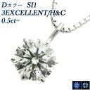 ダイヤモンド ネックレス 0.5ct SI1-D-3EXCELLENT/H&C プラチナ 0.5カラット ダイヤモンドペンダント ダイヤモンドネックレス Pt ハートアンドキューピットペンダント ネックレス ダイヤモンド diamond