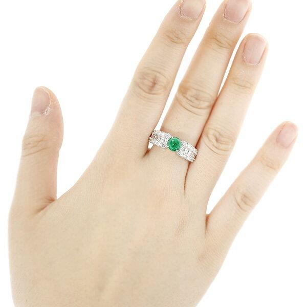 【ご注文後10%OFF】エメラルド リング 0.91ct --ラウンドミックスカット Pt プラチナ Pt Platinum 指輪 emerald エメラルドリング エメラルド ダイヤモンド ダイヤ ダイヤモンドリング リング ring diamond