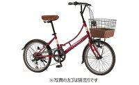 【ルノーRENAULT】206LClassic-N(バスケット別売り)レッド20型外装6段変速【小径車】【ミニベロ】【イオン】【自転車】