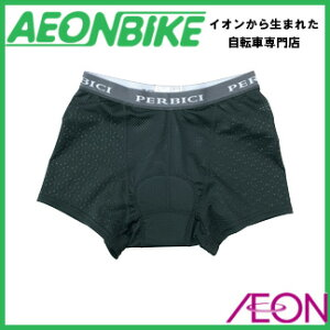 【PERBICI ペルビチ】 パッド付きメッシュインナーパンツ ブラツク M 【自転車ウエア】…