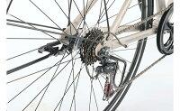 デュートアルミクロスバイク前カゴどろよけスタンド装備超軽量パープル700C外装7段変速【通勤】【通学】【クロスバイク】【イオン】【自転車】