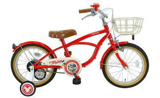 【お店受取り送料無料】アイデスウィズフレンドSmile16ミッキーマウスレッド変速なし16型子供用自転車