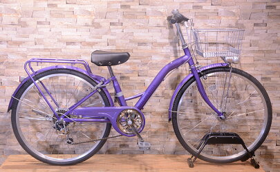 【お店受取り送料無料】スカラーレジュニアAパープル外装6段変速26型子供用自転車