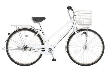 【お店受取り送料無料】 トップバリュ (TOPVALU) LEDオートライト付きベーシック自転車 シティータイプB ホワイト 内装3段変速 26型 通勤 通学 自転車