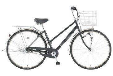 【お店受取り送料無料】 トップバリュ (TOPVALU) LEDオートライト付きベーシック自転車 シティータイプB ブラック 内装3段変速 26型 通勤 通学 自転車