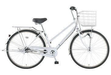 【お店受取り送料無料】 トップバリュ (TOPVALU) LEDオートライト付きベーシック自転車 シティータイプB シルバー 内装3段変速 26型 通勤 通学 自転車