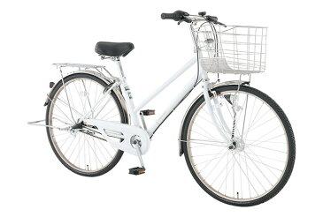 【お店受取り送料無料】 トップバリュ (TOPVALU) LEDオートライト付きベーシック自転車 シティータイプB ホワイト 内装3段変速 27型 通勤 通学 自転車