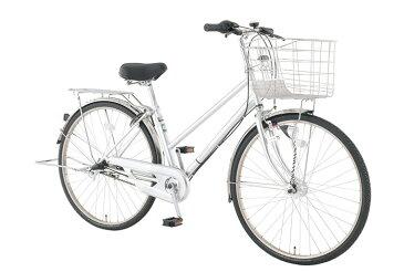【お店受取り送料無料】 トップバリュ (TOPVALU) LEDオートライト付きベーシック自転車 シティータイプB シルバー 内装3段変速 27型 通勤 通学 自転車