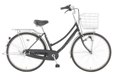 【お店受取り送料無料】 トップバリュ (TOPVALU) LEDオートライト付きベーシック自転車 ファミリータイプ-B ブラック 内装3段変速 26型 通勤 通学 自転車