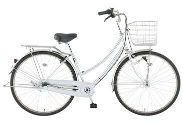【お店受取り送料無料】 トップバリュ (TOPVALU) LEDオートライト付きベーシック自転車 ファミリータイプ-B シルバー 内装3段変速 26型 通勤 通学 自転車