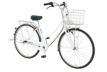 【お店受取り送料無料】 トップバリュ (TOPVALU) LEDオートライト付きベーシック自転車 ファミリータイプ-B ホワイト 内装3段変速 27型 通勤 通学 自転車
